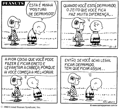Charge: Charlie Brown, depressão