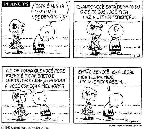 Charge: Charlie Brown, depressão