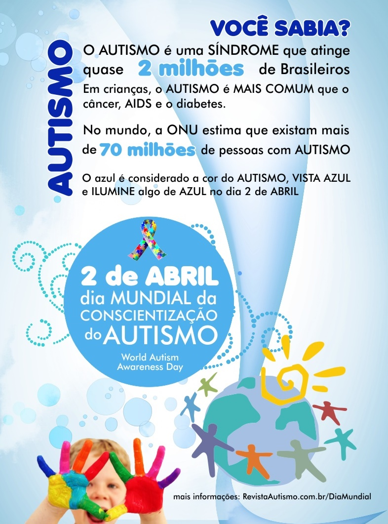 02 de Abril, Dia Mundial do Autismo
